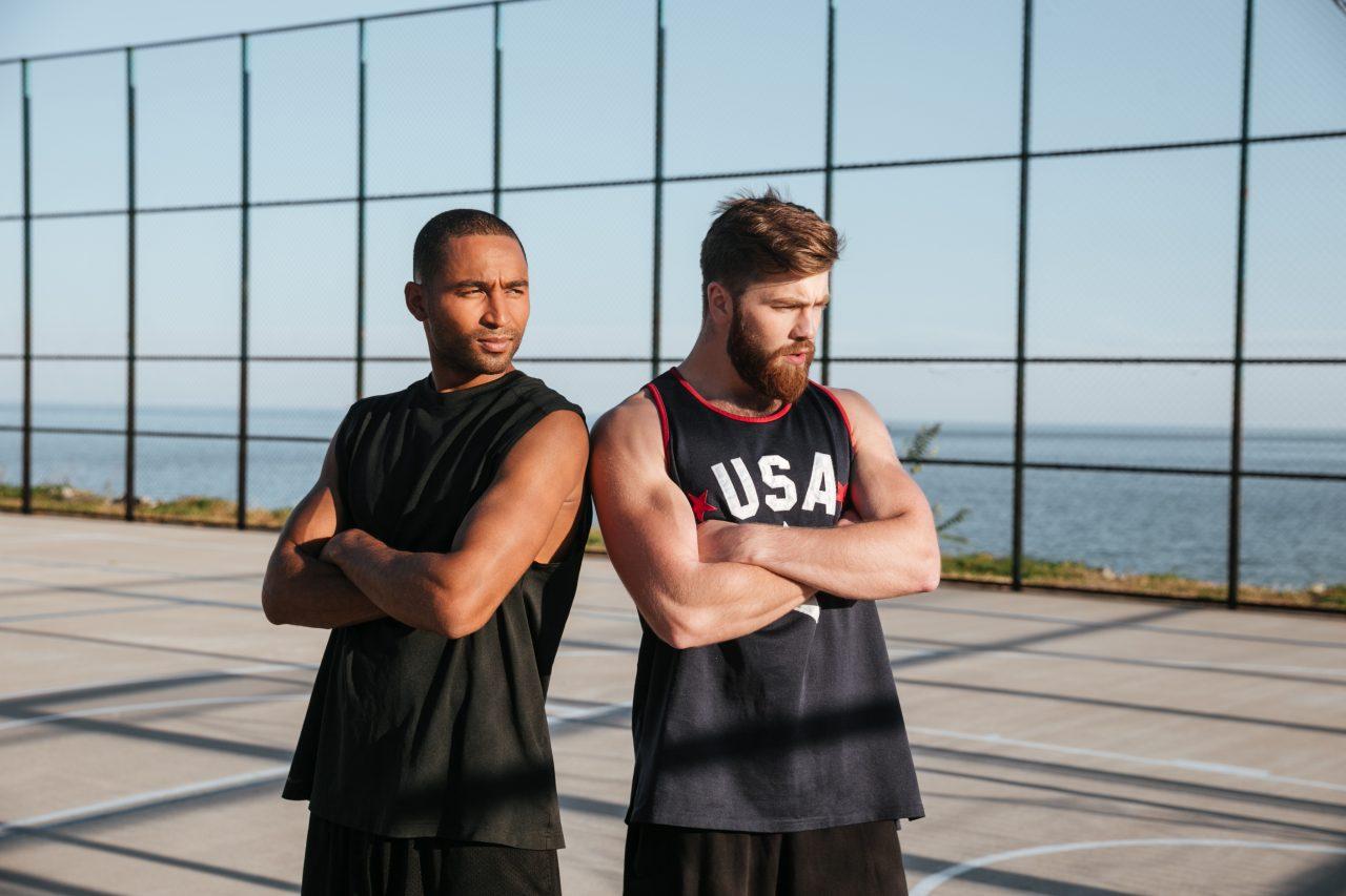 Two sportsmen outdoors
