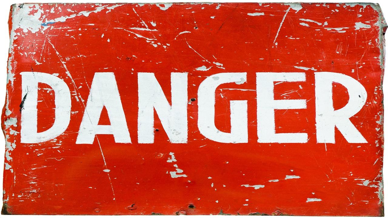 V 345 dangers of denial and rejecting emmaus rd danger sign courtesy of Sergieiev shutterstock com _977853502